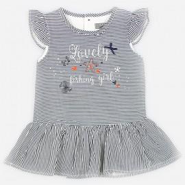 Losan Sukienka dla dziewczynki w granatowe paski 918-7017AA-378