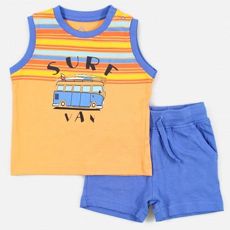 Losan Zestaw dla chłopca t-shirt i bermudy biały 917-8046AA-621