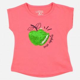 Losan T-shirt na ramiączkach dziewczęcy czerwony 916-1211AA-059