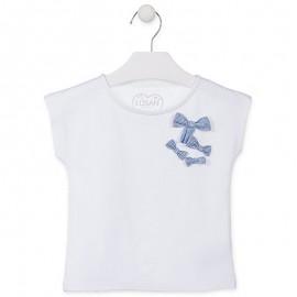Losan T-Shirt dla dziewczynki z krótkim rękawem biały 916-1013AA-001