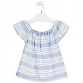 Losan Bluzka dziewczęca z krótkim rękawem niebieska 916-3791AA-709