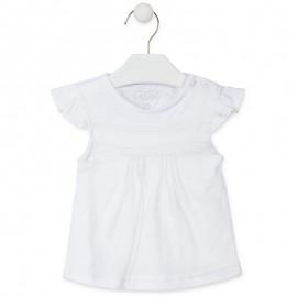 Losan T-Shirt dziewczęcy z krótkim rękawem biały 918-1009AA-001
