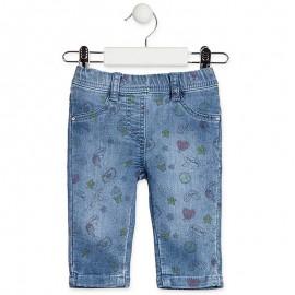 Losan Legginsy dziewczęce jeans niebieskie 918-6010AA-741