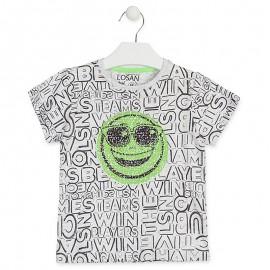 Losan T-Shirt chłopięcy z cekinami szary 915-1014AA-657