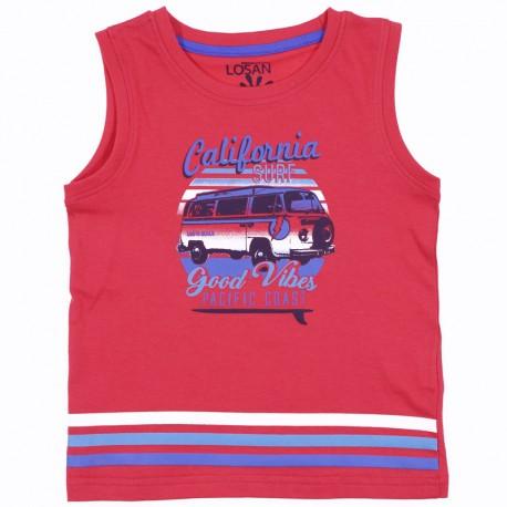 Losan T-Shirt chłopięcy na ramiączkach czerwona 915-1211AA-575