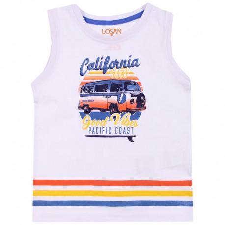 Losan T-Shirt chłopięcy na ramiączkach biały 915-1211AA-001