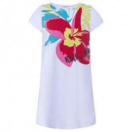 Sukienka dziewczęca z rękawkiem biała Tuc Tuc 49824-5