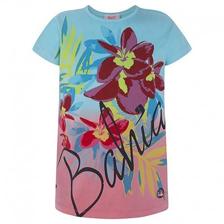 Koszulka dziewczęca z rękawem turkus Tuc Tuc 49816-1