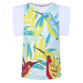 Koszulka dziewczęca z rękawem biała Tuc Tuc 49817-6