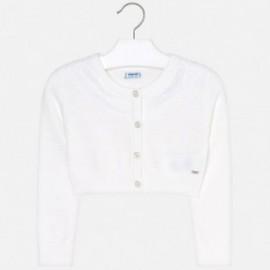 Mayoral 3302-79 Sweterek dziewczęcy biały