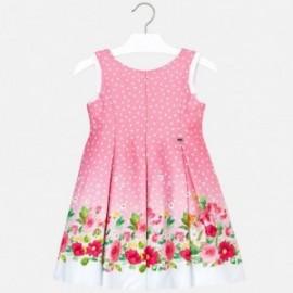 Mayoral 3932-15 Sukienka dla dziewczynki w groszki różowa