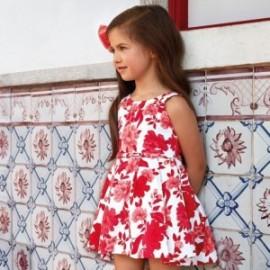 Sukienka dziewczęca elegancka w kwiaty Mayoral 3914-95