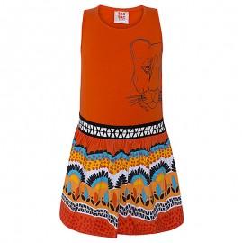 Sukienka dziewczęca bawełniana pomarańcz Tuc Tuc 49862-10