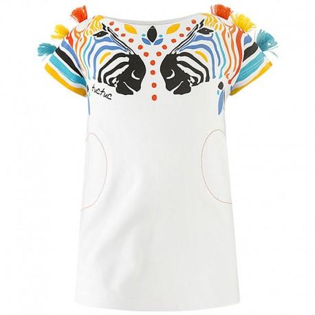 Bluzka dziewczęca bawełniana biała Tuc Tuc 49856-5