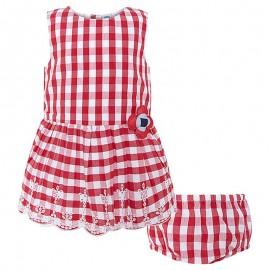 Sukienka dziewczęca w czerwoną kratkę z majteczkami Tuc Tuc 49530-3