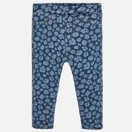 Mayoral 1519-25 Spodnie dziewczęce kolor niebieski kwiatuszki