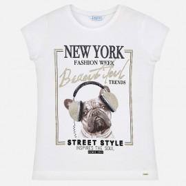 Mayoral 6025-11 Koszulka dziewczęca kolor krem