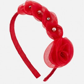 Mayoral 10588-53 Opaska kwiaty kolor Czerwony