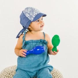 czapka dziewczęca z daszkiem na lato Pupill PAULA