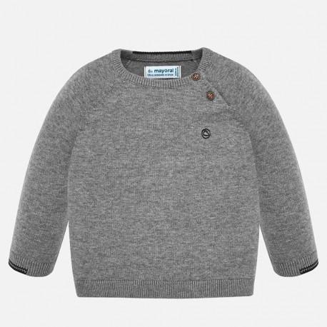 Sweter bawełniany gładki dla chłopca Mayoral 309-87