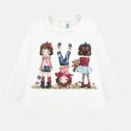 Koszulka z długim rękawem z nadrukiem dla dziewczynki Mayoral 2010-82