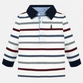 Koszulka polo z długim rękawem w paski chłopięca Mayoral 2108-58