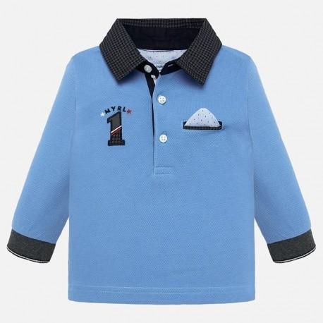 Koszulka polo z długim rękawem z aplikacją chłopięca Mayoral 2109-38