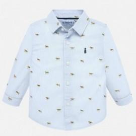 Koszula z długim rękawem we wzory chłopięca Mayoral 2115-40