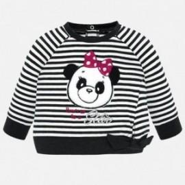 Bluza bawełniana w paski dziewczęca Mayoral 2422-96