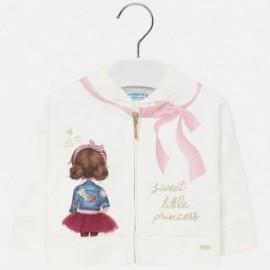 Bluza z nadrukiem na stójce dla dziewczynki Mayoral 2438-77