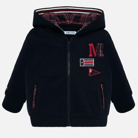 Bluza bawełniana z kapturem na zamek dla chłopca Mayoral 2458-81
