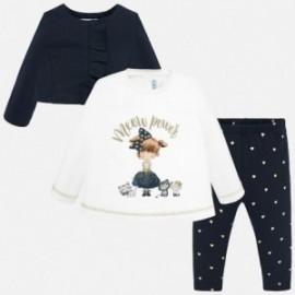 Komplet bluza bluzka i getry dla dziewczynki Mayoral 2742-28
