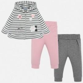 Dres bluza i dwie pary spodni dla dziewczynki Mayoral 2839-50