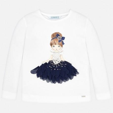 Koszulka z długim rękawem dla dziewczynki Mayoral 4008-41