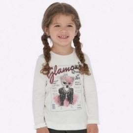 Koszulka z długim rękawem z falbanką dla dziewczynki Mayoral 4009-44