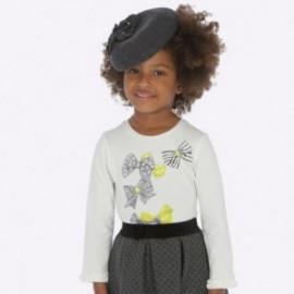 Koszulka z długim rękawem z falbanką dla dziewczynki Mayoral 4009-42