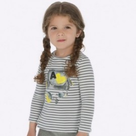 Koszulka z długim rękawem z z nadrukiem dla dziewczynki Mayoral 4014-61