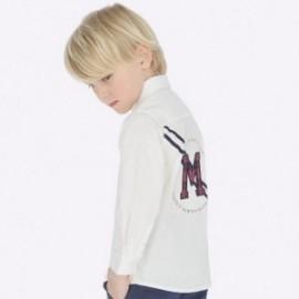 Koszula z długim rękawem z aplikacjami chłopięca Mayoral 4120-83