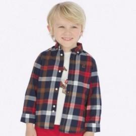 Koszula z długim rękawem w kratkę slim fit chłopięca Mayoral 4122-38