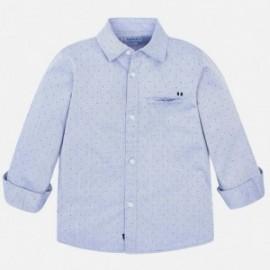 Koszula z długim rękawem serża we wzory elegancka chłopięca Mayoral 4125-40