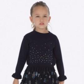 Sweter z falbanką pod szyję dla dziewczynki Mayoral 4303-17