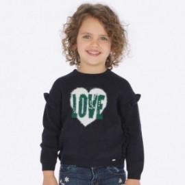 Sweter intarsja z falbanką dla dziewczynki Mayoral 4304-37