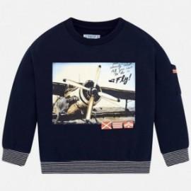 Bluza sportowa z nadrukiem samolot dla chłopca Mayoral 4426-48