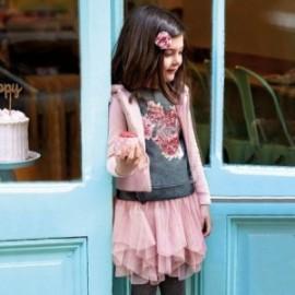 Komplet bluzka i spódnica z tiulu dla dziewczynki Mayoral 4951-70