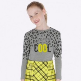 Koszulka z długim rękawem z nadrukiem dla dziewczynki Mayoral 7009-35