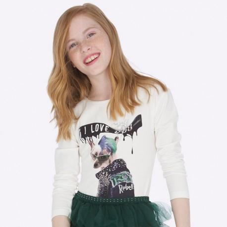 Koszulka z długim rękawem dla dziewczynki Mayoral 7014-10