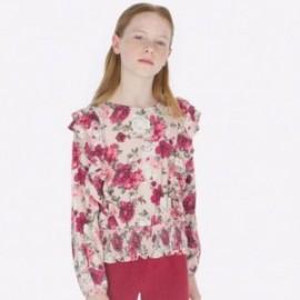 Bluzka elegancka z falbankami dziewczęca Mayoral 7105-25