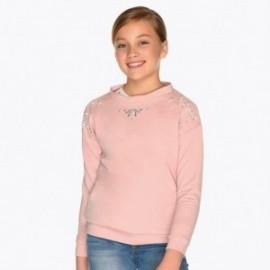 Bluza bawełniana z perełkami dziewczęca Mayoral 7403-41