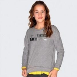 Bluza bawełniana z napisem dziewczęca Mayoral 7405-81