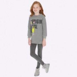 Komplet bluza bez kaptura i leginsy dla dziewczynki Mayoral 7707-38